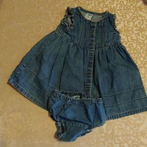 Jean dress size 6-12 months
